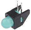 Broadcom HLMP-4740-A00B2, Green Right Angle PCB LED Indicator,