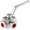 RS PRO Steel Line Mounting Hydraulic Ball Valve