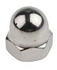 M8 A4 316 Plain Stainless Steel Dome Nut