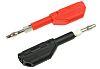 Staubli Black, Red Male Banana Plug - Screw