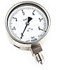 RS PRO Analogue Positive Pressure Gauge Bottom Entry