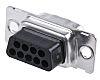 ERNI TMC Series Straight Crimp D-sub Connector, Plug,