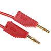Staubli Test lead, 32A, 30 V ac, 60V dc, Red, 1m Lead Length