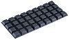 3M Tapered Square Anti Vibration Feet SJ5023 BLACK