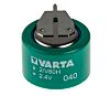 Varta V80H 2.4V NiMH Button Rechargeable Battery, 80mAh