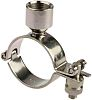 RS PRO Stainless Steel Silver Hinged Pipe Clamp,