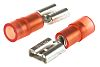 RS PRO Red Insulated Spade Connector, 6.35 x 0.8mm Tab Size, 0.5mm² to 1.5mm²