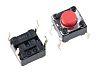 Red Keyboard Switch, Single Pole Single Throw (SPST) 50 mA @ 12 V dc 1.5mm