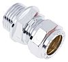 RS PRO 15mm x 1/2 in BSPP Male Straight Coupler Brass Compression Fitting
