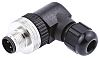 Brad Screw Connector, 4 Contacts, M12 Cable Mount,