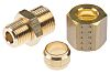 Legris 8mm x 1/8 in BSPT Male Straight Coupler Brass Compression Fitting