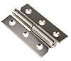 Pinet Nickel Plated Steel Concealed Hinge Screw, 50mm