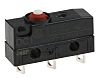 SPDT-NO/NC Button Microswitch, 10 A @ 250 V
