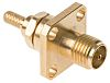 Radiall 50Ω Straight Flange Mount SMA Connector, jack,