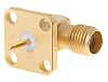 Radiall 50Ω Right Angle Flange Mount SMA Connector,