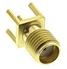 Radiall 50Ω Straight PCB Mount SMA Connector, jack
