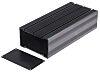 RS PRO Black Anodised Aluminium Heat Sink Case,