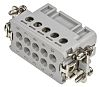 TE Connectivity HA Heavy Duty Power Connector Insert, 11 contacts, 10A, Female