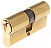 Vachette Brass Euro Cylinder Lock, 30 x 30