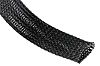 HellermannTyton Expandable Braided PET Black Cable Sleeve, 25mm