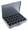 Durham 24 Cell Grey Steel Compartment Box, 50mm