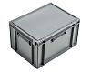 Schoeller Allibert 20L Grey Plastic Medium Storage Box,