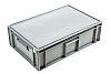 Schoeller Allibert 33L Grey Plastic Medium Storage Box, 186mm x 400mm x 600mm