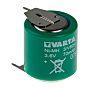 Varta V80H 3.6V NiMH Button Rechargeable Battery, 80mAh