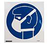 Brady PET Mandatory Mask Sign With Pictogram Only