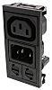 Bulgin C13, C14 Snap-In IEC Connector Socket, Plug,