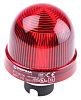 Werma EM 815 Red Incandescent Beacon, 12 → 240 V ac/dc, Steady, Panel Mount