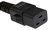 RS PRO 2m Power Cable, C19, IEC to
