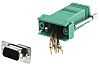 RS PRO D Sub Adapter Male 9 Way D-Sub to Female RJ45