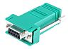 RS PRO D Sub Adapter Female 9 Way D-Sub to Female RJ45