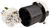Clavija Hubbell NEMA L5 - 20P de 2P+E de color Negro, para EE.UU., 125 V ac, 20A, Montaje de Cable