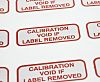 RS PRO Adhesive Pre-Printed Red Label-Calibration Void Removed-.