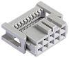 3M 891 IDC-Steckverbinder Buchse 90° gewinkelt, 10-polig / 2-reihig, Raster 2.54mm