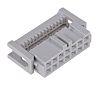 Conector IDC 3M, Serie 891, paso 2.54mm, 14 contactos, 2 filas, Ángulo de 90° , Montaje de Cable, Hembra