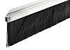 RS PRO Aluminium, Nylon Black Brush Strip, 60mm