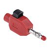 Multi Contact Red Male Banana Plug - Clamp,