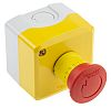 Schneider Electric Harmony, Red/Yellow/Grey, Twist to Reset 40mm