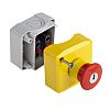 Schneider Electric Harmony, Red/Yellow/Grey, Key Reset 40mm