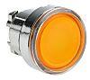 Schneider Electric Flush Illuminated Orange Push Button Head