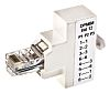 Decelect Forgos Cat5e RJ45 Female, RJ45 Male Splitter,