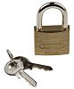 ABUS XR006040K1 All Weather Brass, Steel Padlock Keyed
