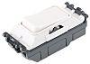 White 20 A Light Switch MK White, 1 Way Clip In Semi Gloss, 1 Gang MK Grid, 250 V ac 86mm Not Illuminated IP2X