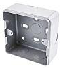 MK Electric Metalclad Silver Matt Aluminium Back Box,