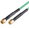Radiall Green Male SMA to Male SMA Coaxial
