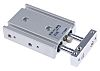 SMC Pneumatic Guided Cylinder 10mm Bore, 10mm Stroke,
