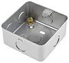 RS PRO Grey Matt Metal Clad Back Box, BS Standard, IP20, Surface Mount, 1 Gangs